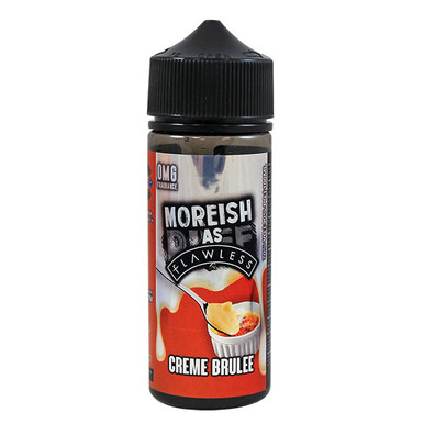 Creme Brulee Custard E Liquid 100ml Shortfill 0mg (120ml with 2 x 10ml Nicotine Shots Making Liquid 3mg) By Moreish As Flawless
