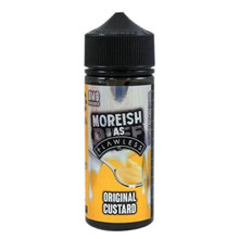 Original Custard E Liquid 100ml Shortfill 0mg (120ml with 2 x 10ml Nicotine Shots Making Liquid 3mg) By Moreish As Flawless