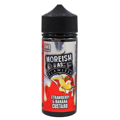 Strawberry & Banana Custard E Liquid 100ml Shortfill 0mg (120ml with 2 x 10ml Nicotine Shots Making Liquid 3mg) By Moreish As Flawless