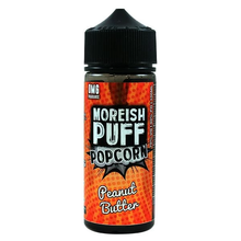 Peanut Butter Popcorn E Liquid 100ml Shortfill 0mg (120ml with 2 x 10ml Nicotine Shots Making Liquid 3mg) By Moreish Puff