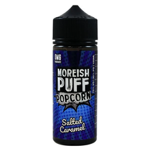 Salted Caramel Popcorn E Liquid 100ml Shortfill 0mg (120ml with 2 x 10ml Nicotine Shots Making Liquid 3mg) By Moreish Puff