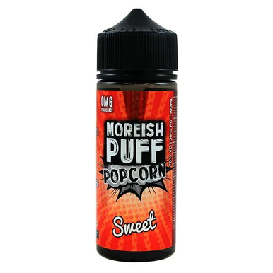 Sweet Popcorn E Liquid 100ml Shortfill 0mg (120ml with 2 x 10ml Nicotine Shots Making Liquid 3mg) By Moreish Puff