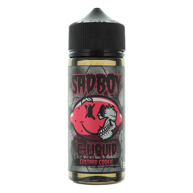 Custard Cookie E Liquid 100ml Shortfill 0mg (120ml with 2 x 10ml Nicotine Shots Making Liquid 3mg) By Sadboy
