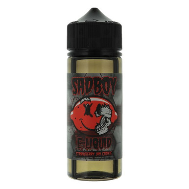 Strawberry Jam Cookie E Liquid 100ml Shortfill 0mg (120ml with 2 x 10ml Nicotine Shots Making Liquid 3mg) By Sadboy