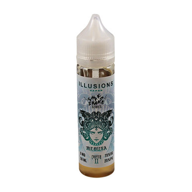 Medusa E Liquid 50ml Short Fill 0mg (60ml with 1 x 10ml 18mg Nicotine Shot making 3mg liquid) by Illusions Vapor