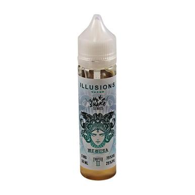 Medusa E Liquid 50ml Short Fill 0mg (60ml with 1 x 10ml 18mg Nicotine Shot making 3mg liquid) by Illusions Vapor