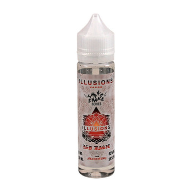 Red Magic E Liquid 50ml Short Fill 0mg (60ml with 1 x 10ml 18mg Nicotine Shot making 3mg liquid) by Illusions Vapor