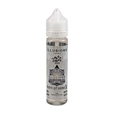 Taste Of Gods E Liquid 50ml Short Fill 0mg (60ml with 1 x 10ml 18mg Nicotine Shot making 3mg liquid) by Illusions Vapor