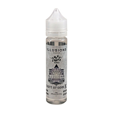 Taste Of Gods X E Liquid 50ml Short Fill 0mg (60ml with 1 x 10ml 18mg Nicotine Shot making 3mg liquid) by Illusions Vapor