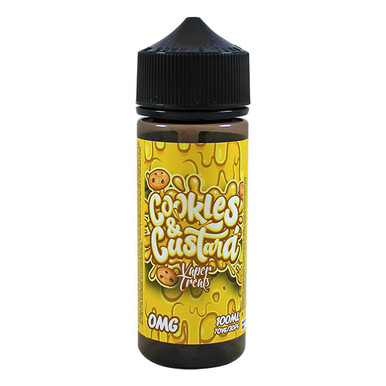 Cookies & Custard E Liquid 100ml Short Fill 0mg (3mg With Use Of Free Nic Shots Giving 120ml/3mg) By Vaper Treats