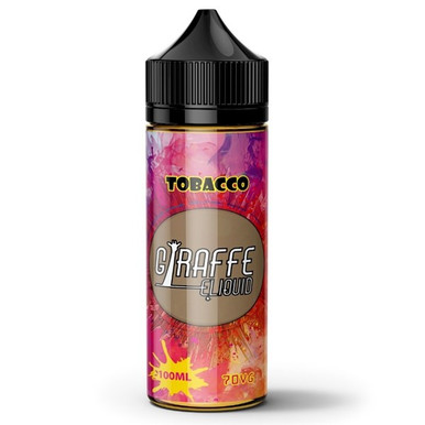 Tobacco E Liquid 100ml by Giraffe (Zero Nicotine & Free Nic Shots to make 120ml/3mg)