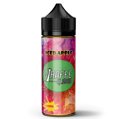 Iced Apple E Liquid 100ml by Giraffe (Zero Nicotine & Free Nic Shots to make 120ml/3mg)