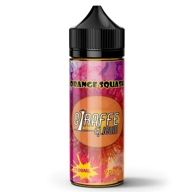 Orange Squash E Liquid 100ml by Giraffe (Zero Nicotine & Free Nic Shots to make 120ml/3mg)