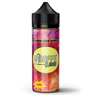 Lemon Iced Donut E Liquid 100ml by Giraffe (Zero Nicotine & Free Nic Shots to make 120ml/3mg)