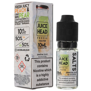 Peach Pear Freeze Nic Salt E Liquid 10ml by Juice Head