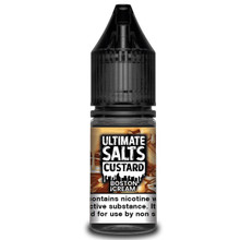 Boston Cream Custard 10ml Nic Salt E Liquid By Ultimate Salts