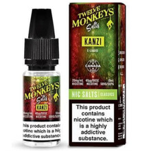 Kanzi Nic Salt E Liquid 10ml by Twelve Monkeys