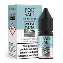 Strawberry Kiwi Ice Charlies Chalk Dust Pacha Mama Nic Salt 20mg E Liquid By Pod Salt