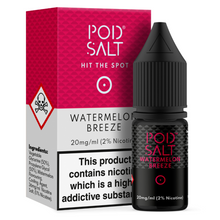 Watermelon Breeze Nic Salt 20mg E Liquid By Pod Salt
