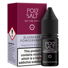 Blueberry Pomegranate Nic Salt 20mg E Liquid By Pod Salt