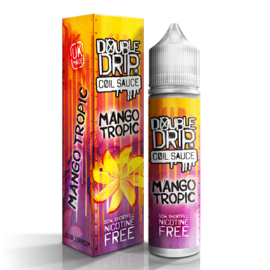 Mango Tropic E Liquid 50ml by Double Drip Coil Sauce Only £9.99 (INC Free Nic Shots or Zero Nicotine)
