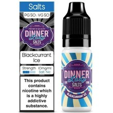 Blackcurrant Ice Nic Salt E Liquid 10ml By Dinner Lady