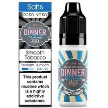 Smooth Tobacco Nic Salt E Liquid 10ml By Dinner Lady
