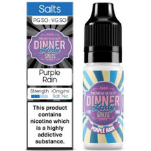 Purple Rain Nic Salt E Liquid 10ml By Dinner Lady