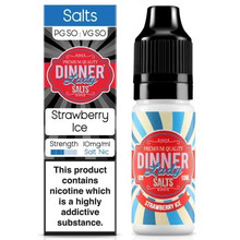 Strawberry Ice Nic Salt E Liquid 10ml By Dinner Lady