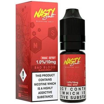 Bad Blood Nic Salt E Liquid 10ml By Nasty Juice