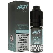 Sicko Blue Nic Salt E Liquid 10ml By Nasty Salt