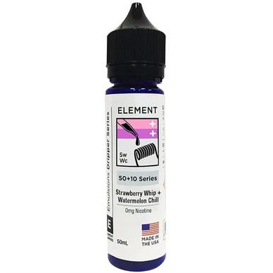 Strawberry Whip & Watermelon Chill E Liquid 50ml Shortfill by Element Mix Series