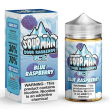 Blue Raspberry Ice E Liquid 200ml By Sourman