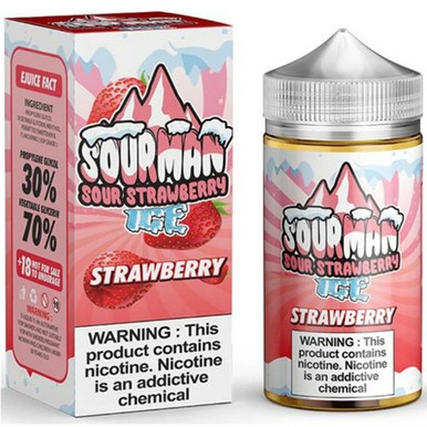Strawberry Ice E Liquid 200ml By Sourman