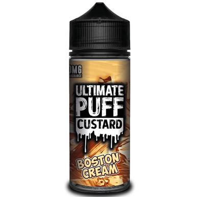 Boston Cream Custard E Liquid 100ml by Ultimate Puff (Zero Nicotine & Free Nic Shots to make 120ml/3mg)