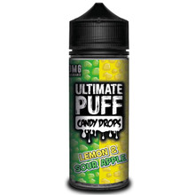 Lemon & Sour Apple E Liquid 100ml by Ultimate Puff (Zero Nicotine & Free Nic Shots to make 120ml/3mg)