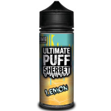 Lemon Sherbet E Liquid 100ml (Zero Nicotine & Free Nic Shots to make 120ml/3mg) by Ultimate Puff