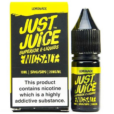 Lemonade Nic Salt E Liquid 10ml By Just Juice