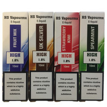 10 x 10ml HS Vapourmx High PG E Liquids