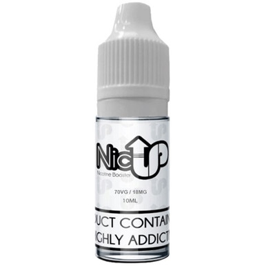 Unflavoured 70VG Nicotine Shot E Liquid 10ml By Nic Up