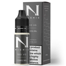 15mg Unflavoured 100VG Nicotine Shot E Liquid 10ml By Nic Nic