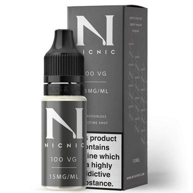 15mg Unflavoured 100VG Nicotine Shot E Liquid 10ml By Nic Nic