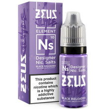 Black Reloaded Nic Salt E Liquid 10ml by Zeus Juice