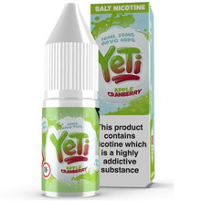 Apple Cranberry Ice Nic Salt E Liquid 10ml By Yeti