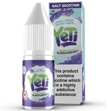 Honeydew Blackcurrant Ice Nic Salt E Liquid 10ml By Yeti
