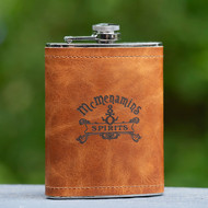 Spirits Leather Flask - 8 oz