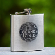 Grand Lodge Stainless Flask - 6 oz