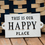 Happy Place Cast Iron Sign