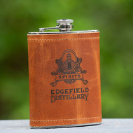 Edgefield Distillery Leather Flask - 8 oz