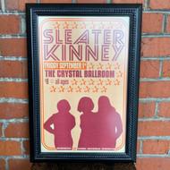McMenamins Framed Poster - Crystal Ballroom Sleater Kinney